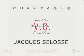 VO (Version Originale) Champagne, Blanc de Blancs, Grand Cru - Jacques Selosse